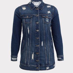 Torrid Distressed Women's Plus Jean Jacket Size 2